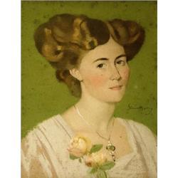 Simon Albert Bussy (1869-1954), Portrait o...