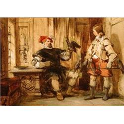 George Cattermole (1800-1868), Interior sc...