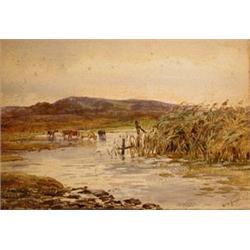 Claude Hayes, RI (1852-1922), Marshy Land,...
