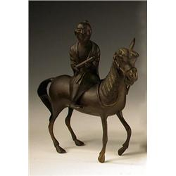A 19th century Chinese bronze group of Sho...