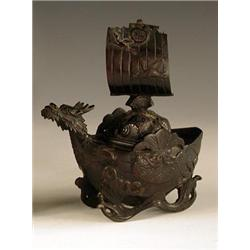 An early 20th century Japanese bronze koro...