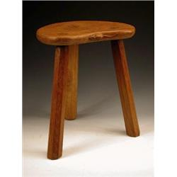 A 20th century 'Mouseman' oak stool, the s...