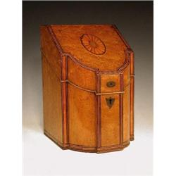 An Edwardian burr maple stationery box mod...