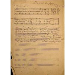 A sheet of manuscript music attributed to ...