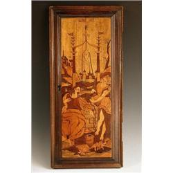 A 17th century South German marquetry pane...