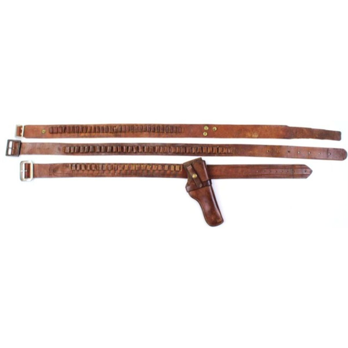 Collection of 3 includes Colorado Saddlery ammo belt  32 cal, fits 30