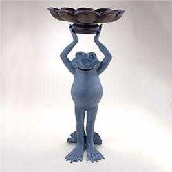 Happy Frog Birdbath
