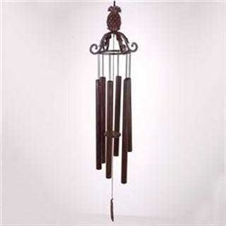 Leaf Scroll Wind Chime With Pineapple