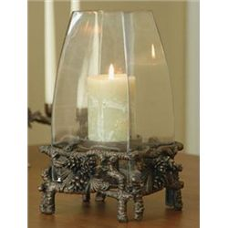 Pinecone Hurricane Candle Holder