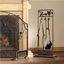 Pinecone Fireplace Tool Set