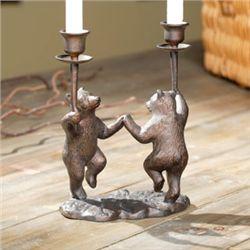Dancing Bears Taper Candleholders
