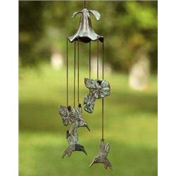Hummingbird & Morning Glory Wind Chime