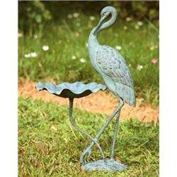 Crane Bird Bath