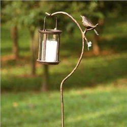 Bird Lantern Garden Stake
