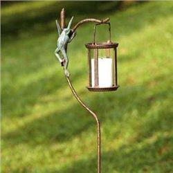 Frog Lantern Garden Stake
