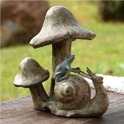 Snail & Mushroom Garden Statue