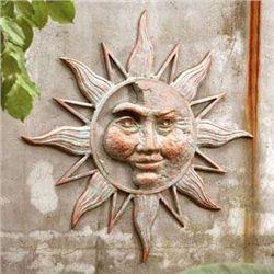 Half Face Sun Wall Plaque