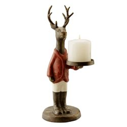 Deer Jockey Candle Holder