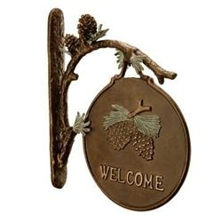 Pinecone Welcome Sign
