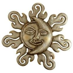 Sun & Moon Half Face Wall Plaque