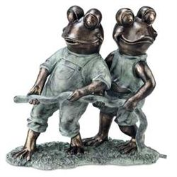 Frogs With Hose Garden Spitter