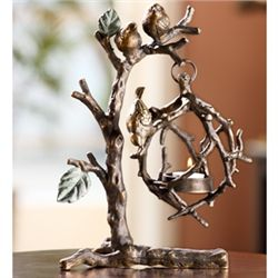 Birds On Branch Hangng Candle Holder