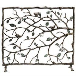 Bird & Branch Votive Fireplace Screen