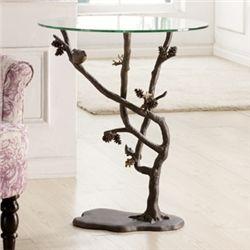 Bird & Pinecone Side Table