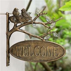 Lovebirds Welcome Sign