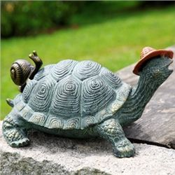 Strolling Garden Turtle With Friend