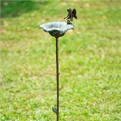 Fairy & Flower Petal Bird Feeder W/Stake