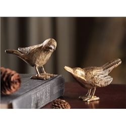 Cast Iron Hummingbird Figurines - Pair