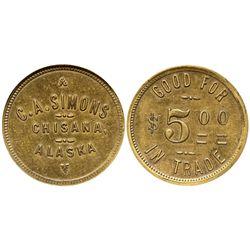 AK - Chisana,c1917 - Simons, C A General Store Token