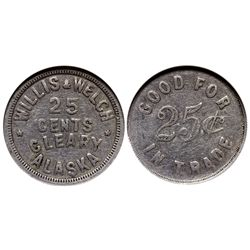 AK - Cleary,c1910 - Willis & Welch General Store Token