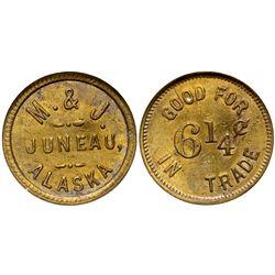 Ak - Juneau,c1908 - M & J  Token