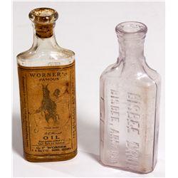 AZ - Bisbee,Cochise County - c1900 - Bisbee Drug Bottles