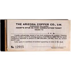AZ - Clifton,Arizona Copper Co. Ltd., Coupon Book