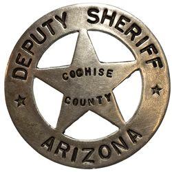 AZ - Cochise County,c1880 - Deputy Sheriff Badge