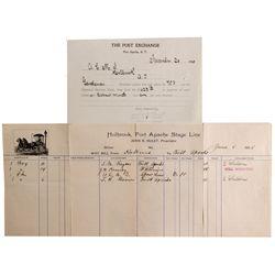 AZ - Fort Apache,Navajo County - 1900, 1905 - Fort Apache Post Exchange Documents