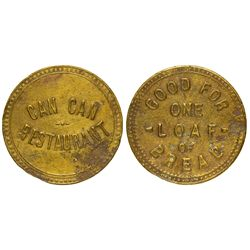 AZ - Tombstone,Cochise County - c1880 - Can Can Restaurant Token
