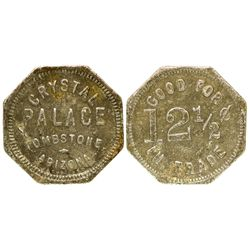 AZ - Tombstone,Cochise County - c1885 - Crystal Palace Token