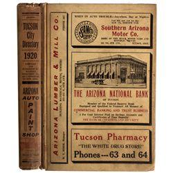 AZ - Tucson,Pima County - 1920 - 1920 Tucson City Directory