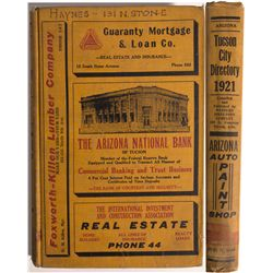 AZ - Tucson,Pima County - 1921 - 1921 Tucson City Directory