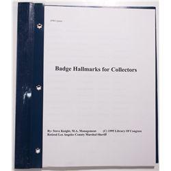 CA - 1998 - Badge Hallmark Guide Book