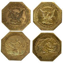 CA - 1850 - Gold Mining Slug Facsimiles