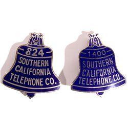 CA - c1920 - Southern California Telephone Co. Badges