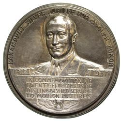 CA - Hollywood,Los Angeles County - 1937 - Paramount Motion Pictures Silver Jubilee Commemorative Me