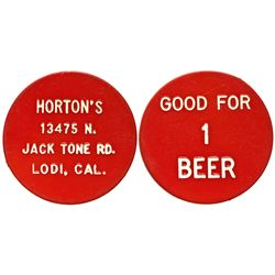 CA - Lodi,San Joaquin County - Horton's Token