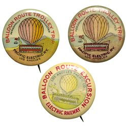 CA - Los Angeles,1900-1901 - Pacific Electric Railway Balloon Route Excursion Trolley Trip Advertisi