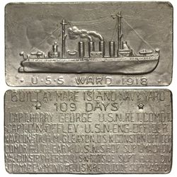 CA - Mare Island Navy Yard,1918 - U.S.S. Ward Medal